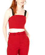 Line + Dot | Rosey Cropped Top | Red
