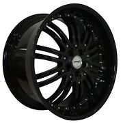 4 G22 Narsis 20 Inch Black Rims Fits Ford Focus Electric 2013 - 2019