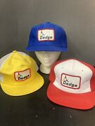 Vintage Hats Dodge 3 Snapback Hats Retro Collection Red Yellow And Blue Foam B3