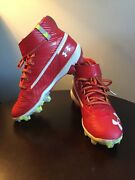 Bryce Harper Phillies Baseball Cleats Sneakers Red Youth 3 Boys Under Armor