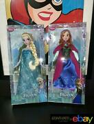 2013 Disney Store Exclusive Frozen Dolls First Edition Elsa And Anna Sealed