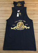 Lot 2 Vintage Metro Goldwyn Mayer Tank Top Shirt And Snapback Hat Med Fits Small