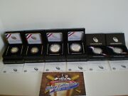 2014 Baseball Hof Complete 7 Coin Collection-goldsilverclad And Young Collector