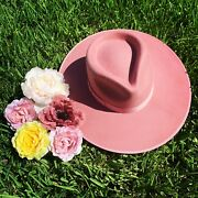 Lack Of Color Hat Rancher Fedora Rose Nwt Size Small Sold Out