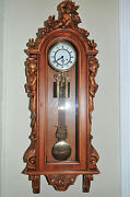 Antique Italian Wall Clock With Three Cherubs In Baroque Design Lovely Model