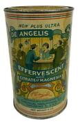 Antique De Angelis Citrate Magnesia Chemical Industrial Co Providence Ri Tin Can