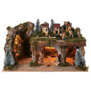 Landscape With Lights And Nativity Scene 12 Cm 8 Pieces 45x80x50 Cm