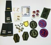 U.s. Army Military Patches Medals Waterbury Buttons 442nd Xi Bin Lot
