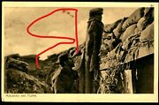 Wwi German Postcard, Sniper Trap, Mannequin With Coat And Cap To Lure Shooters