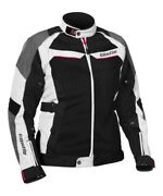 Castle X 17-1894 Passion Air Womenand039s Textile Jacket Med White/hot Pink