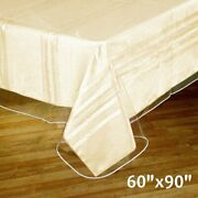6 Pcs Clear Plastic Vinyl 60x90 Tablecloths Protector Table Cover Wedding Party