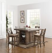 New Classic Furniture Tuscany Park 5 Piece Counter Height Table Set D7404-18
