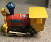 Antique Vintage Fisher Price Push Toy. Toot-toot Train Engine. Wooden. 1964