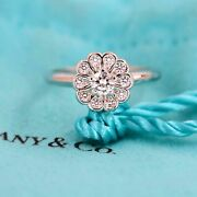 And Co Enchant Flower Diamond Ring In Platinum 0.35 Tcw