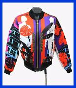 Sold Out 3295 Brand New Versace Cuba Print Red Jacket 54 - 44 - Xxl