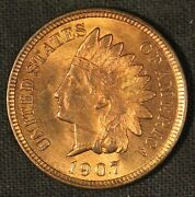 1907 Indian Head Cent - Free Shipping Usa