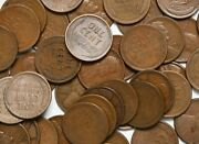 1920 S 50 Count Roll Of Lincoln Wheat Pennies No Culls