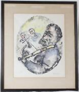 1965 Vintage Chaim Gross Framed+matted Hand-signed And Numbered Judaica Art Print