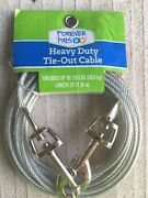 Forever Pals Heact Duty 20 Foot Tie-out Cable For Dogs Up To 125lbs New Silver