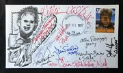 First Day Issue W/ Monster Stamp Signed Complete 1974 Texas Chainsaw Cast