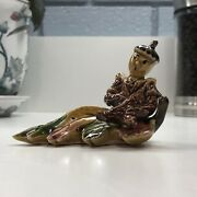 Ceramic Arts Studio Vintage Doxie And Fall Autumn Leaf Salt And Pepper Shakers Sandp