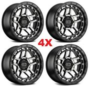 18 Xd Wheels Rims Black Machined 1500 Sierra Silverado
