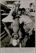 Lg805 1972 Wire Photo Heavy And Smart Laser Guided Bomb Uss America Carrier