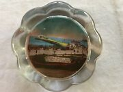 Weston Super Mare The Gardens And Pier Vintage Glass Souvenir Paperweight