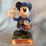 Disney Showcase Traditions Jim Shore Enesco Mickey Mouse Special Delivery