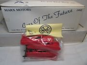 4 Vintage Marx Motors Cars Of The Future Red  Mint Reissue From 1992