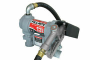 Fill-rite 12 Volt Dc Pump With Hose And Manual Nozzle 1/4 Hp Motor Up To 13 Gpm