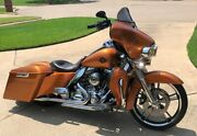 Amber Whiskey Extended Bags Stretched Saddlebag Side Covers Fits 14+ Harley