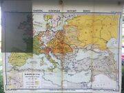 Vintage Denoyer Geppert Map H13 Europe In 1740- Edition 1937 Great Condition
