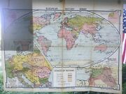 """Vintage Denoyer Geppert Map H30 """"the League Of Nations"""" Edition 1937"""