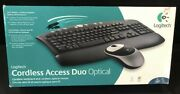 Logitech Cordless Access Duo Optical Keyboard And Mouse New