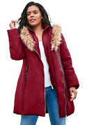 Roamanand039s Womenand039s Plus Size Double-layer Puffer Coat