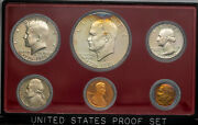 1976-s United States Mint 6 Coin Proof Set Bu Vibrant Color Bold Toned Unc Mr