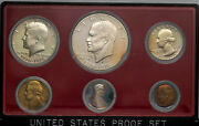 1976-s United States Mint 6 Coin Proof Set Bu Beautiful Color Toned Unc Mr