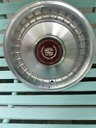 1 Classic Cadillac 1980and039s Vintage Hub Caps Maroon Center Wreath And Crest