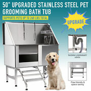Pet Dog Cat Wash Shower Grooming Bath Tub 50 Professional 304 Stainless Steel