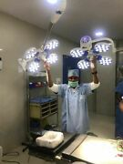 Dual Operation Theater Light Operating Examination Surgical Lamp 4+4 Reflector.a