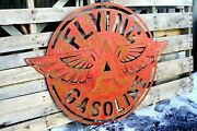 Rusty Patina Flying A Gas Station Garage Sign Large Wall Petroleum Art