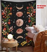 Psychedelic Moon Starry Tapestry Flower Wall Hanging Room Sky Carpet Dorm Tapest