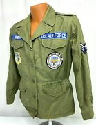 Vintage Us Air Force Named Civil Engineers Enlisted Patched Field Jacket