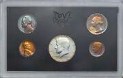 1968-s United States Mint 5 Coin Proof Set Stunning Multi Color Toned Unc Mr