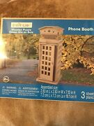 Creatology 3d Wooden Puzzle Phone Booth