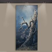 Fred Fredden-goldberg Tree At Canyon Oil Painting Original Signed