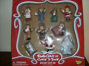 Santa Claus Is Coming To Town 10 Pc Christmas Tree Ornaments