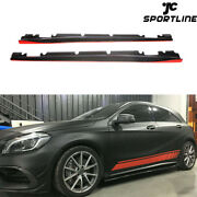 Carbon Fiber Side Skirt Body Kit Fit For Benz Cla45 Cla250 A200 A250 A45 13-18