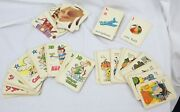 Vtg Ed-u-cards Games Lot Of 4 Old Maid Puzzle Flip Movies Casper Buzzy Audrey